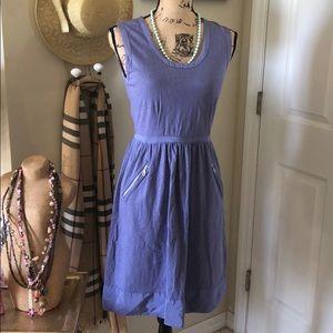 Mint Velvet Lilac Blue Smock Style Summer Dress